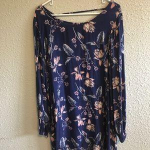 Spring long dress shirt